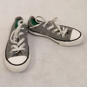 Converse All-Star Girls Low Top Gray Sneakers